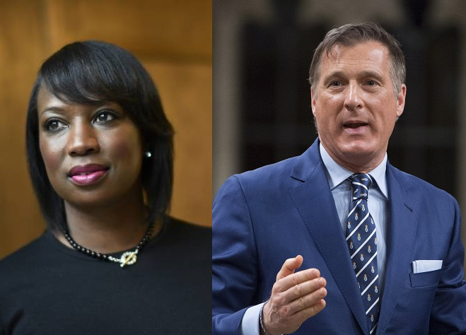 MPs Celina Caesar-Chavannes and Maxime Bernier faced off over race on Twitter.