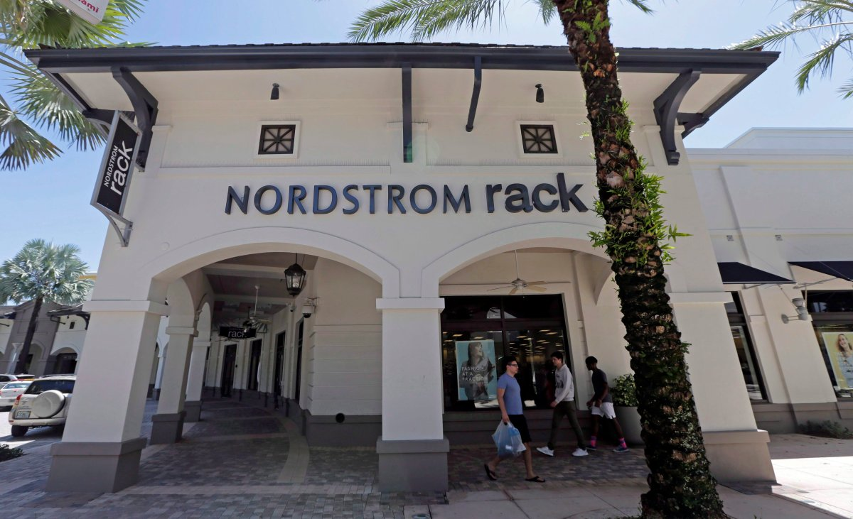 A Nordstrom Rack store in Miami is shown in a 2017 file photo. Nordstrom is opening the first Canadian location of its discount Rack chain on Thursday.