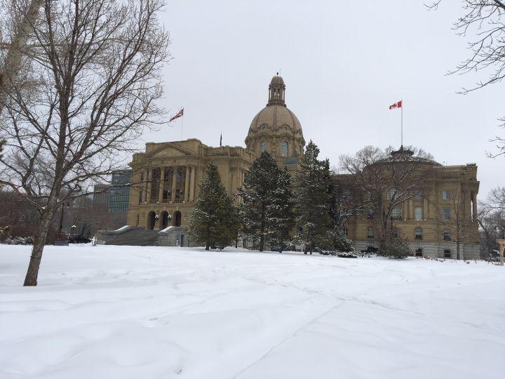 A file photo of the Alberta legislature pictured on Monday, March 19, 2018.
