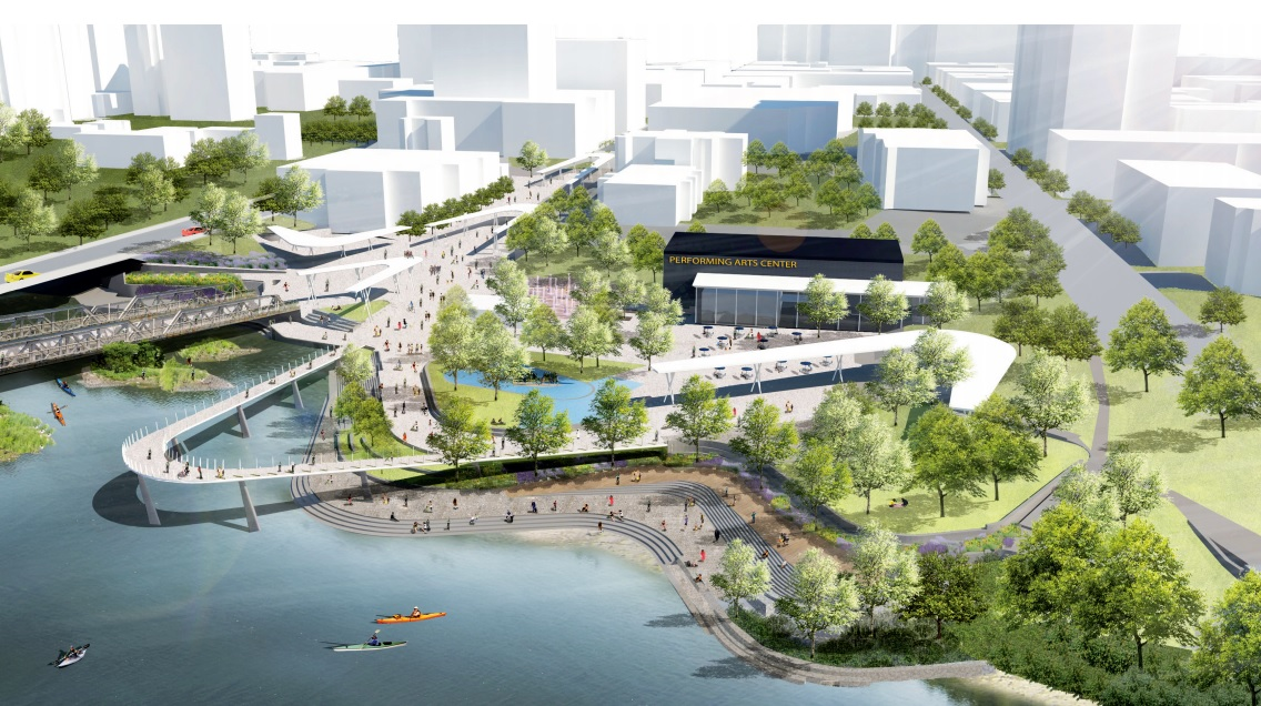 Concept drawings by Civitas and Stantec for the Back to the River project.