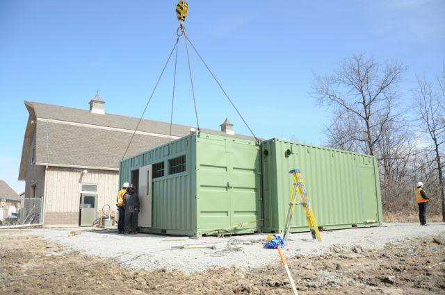 The teaching lab, where Niagara College students will learn cultivation and production of cannabis has been delivered.