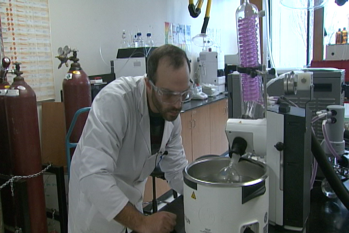 The lab is capable of a process called carbon dioxide extraction.