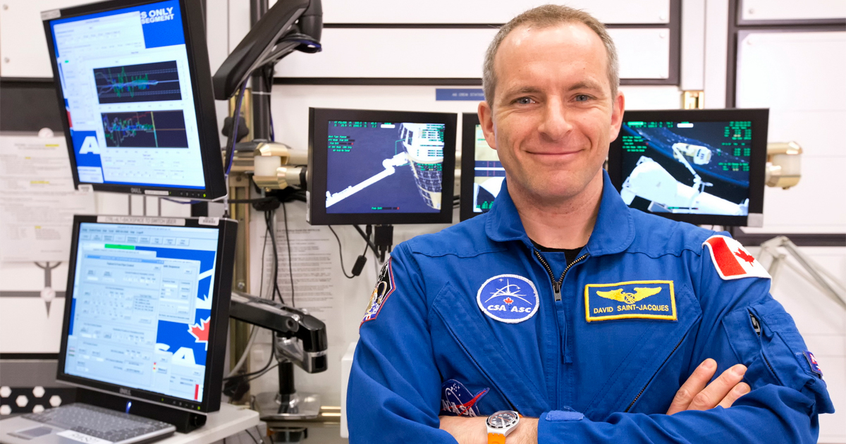 David Saint-Jaques will be the first Canadian in orbit since Chris Hadfield commanded the International Space Station.