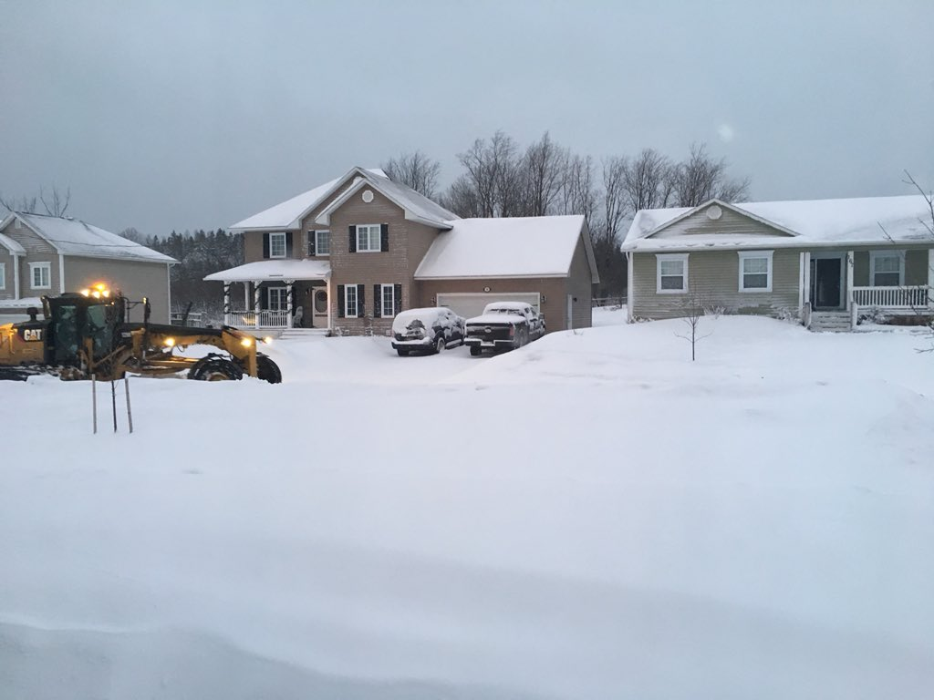 Meteorologists say that 10 to 15 centimetres of snow is expected in New Brunswick.