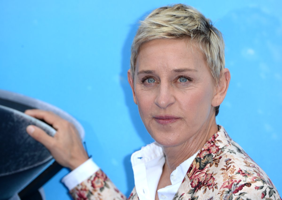 Ellen DeGeneres attends the UK Premiere of 'Finding Dory' at Odeon Leicester Square on July 10, 2016 in London, England.