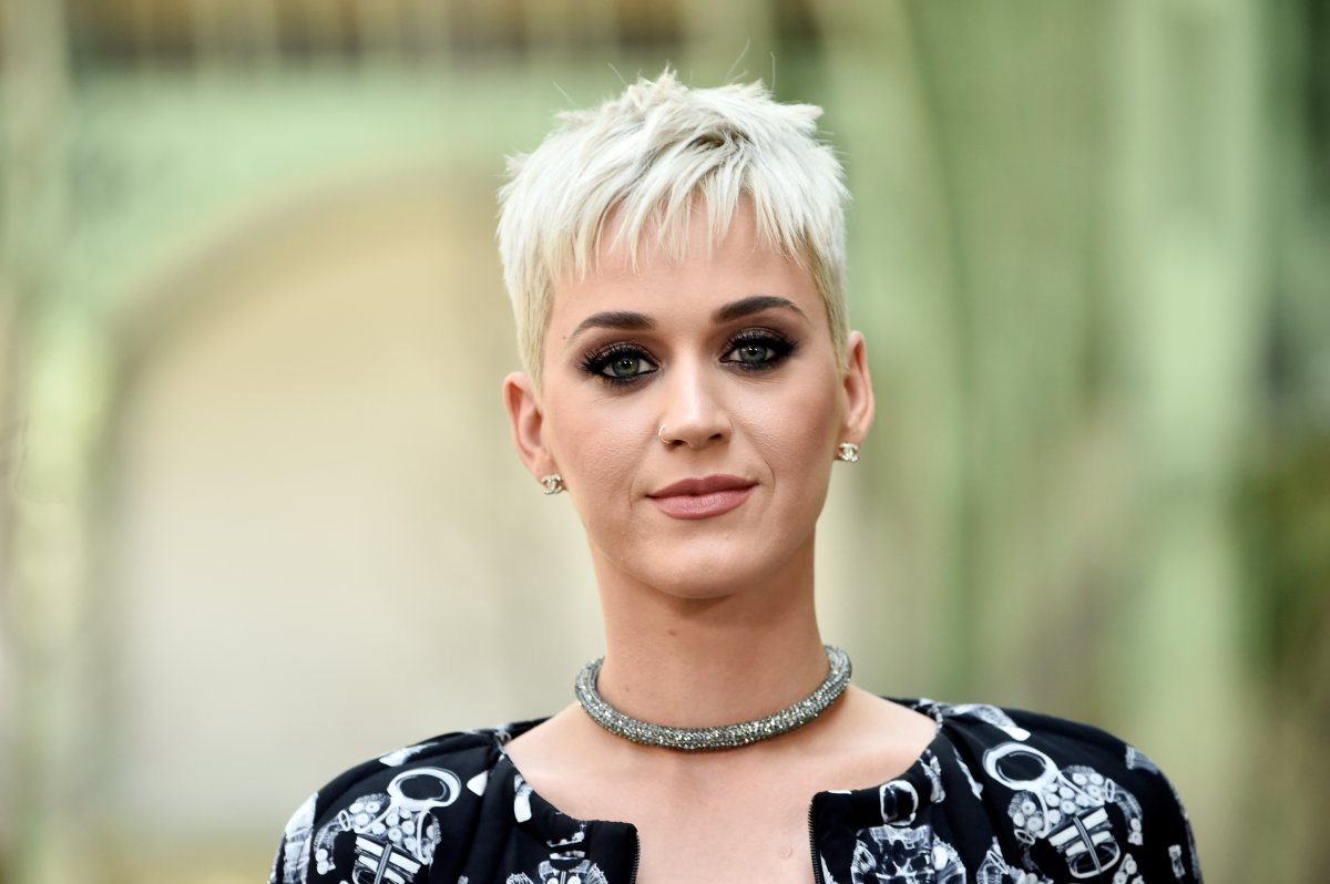 Katy Perry attends the Chanel Haute Couture Fall/Winter 2017-2018 show as part of Haute Couture Paris Fashion Week on July 4, 2017 in Paris, France.