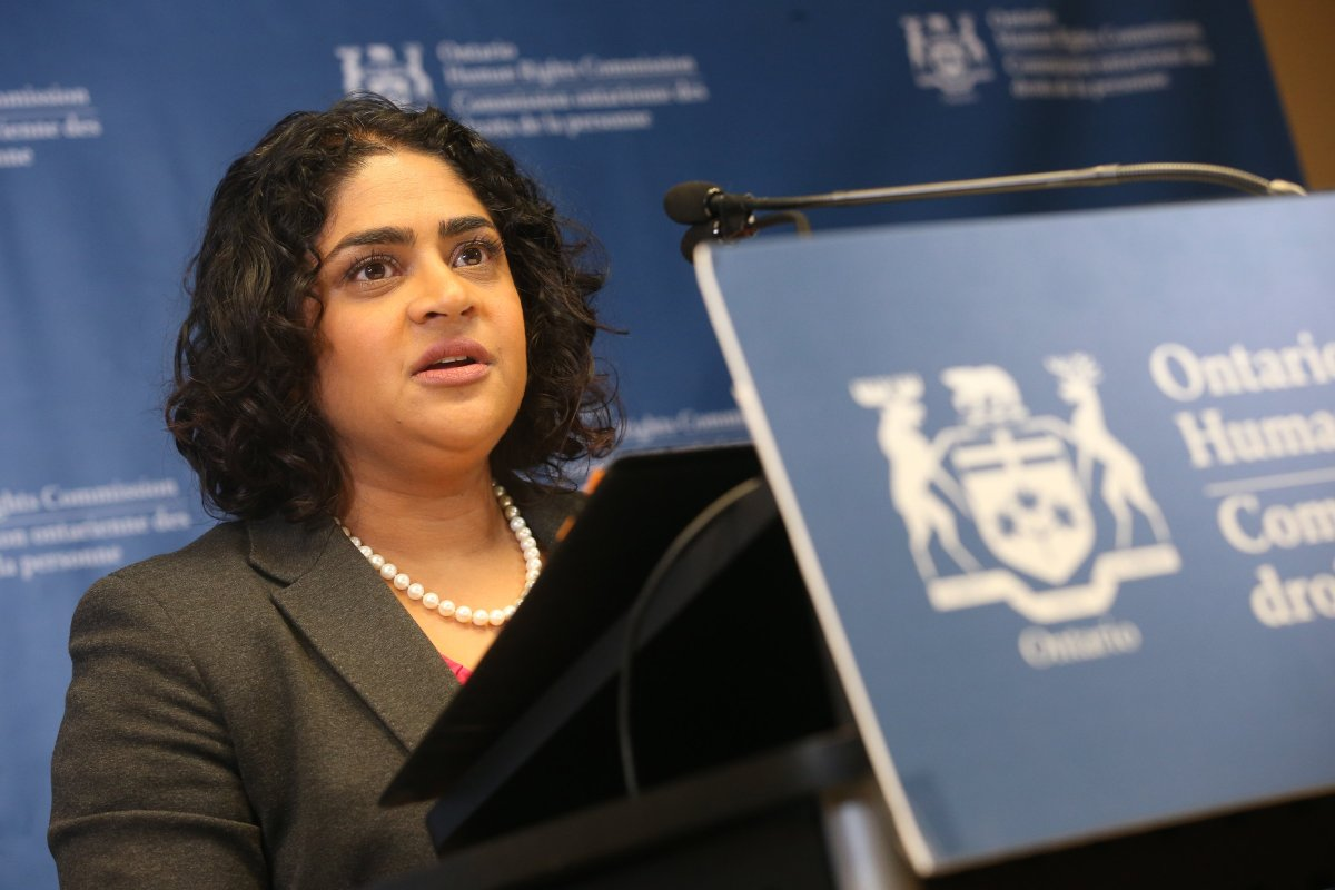 OHRC chief commissioner Renu Mandhane appears in a file photo.