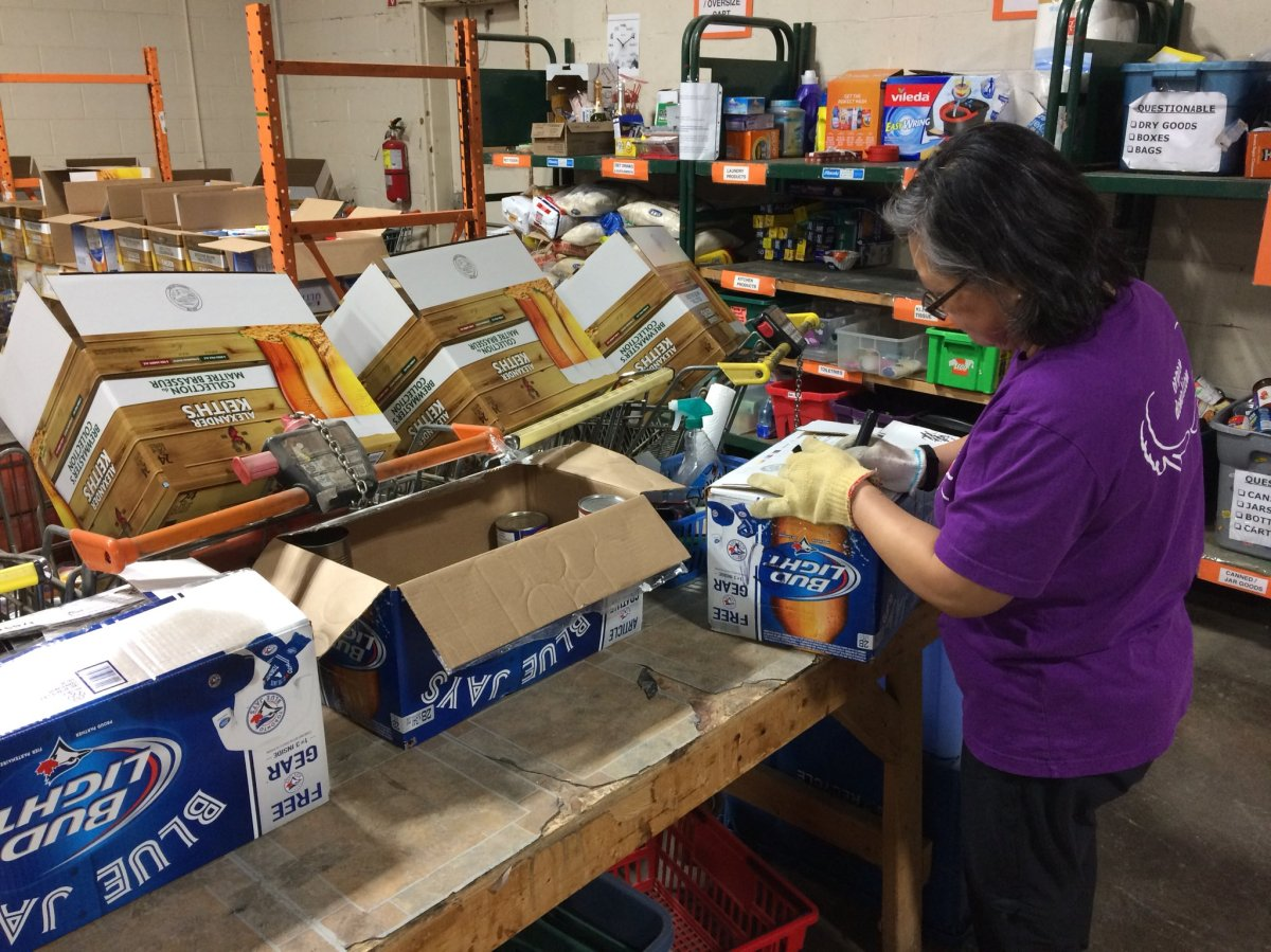 While last year's food drive collected 60-70,000 pounds of food, there is no goal this year..