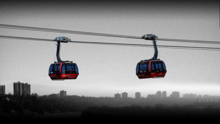 The Gondola over the North Saskatchewan idea was submitted by Edmonton residents Gary and Amber Poliquin. .