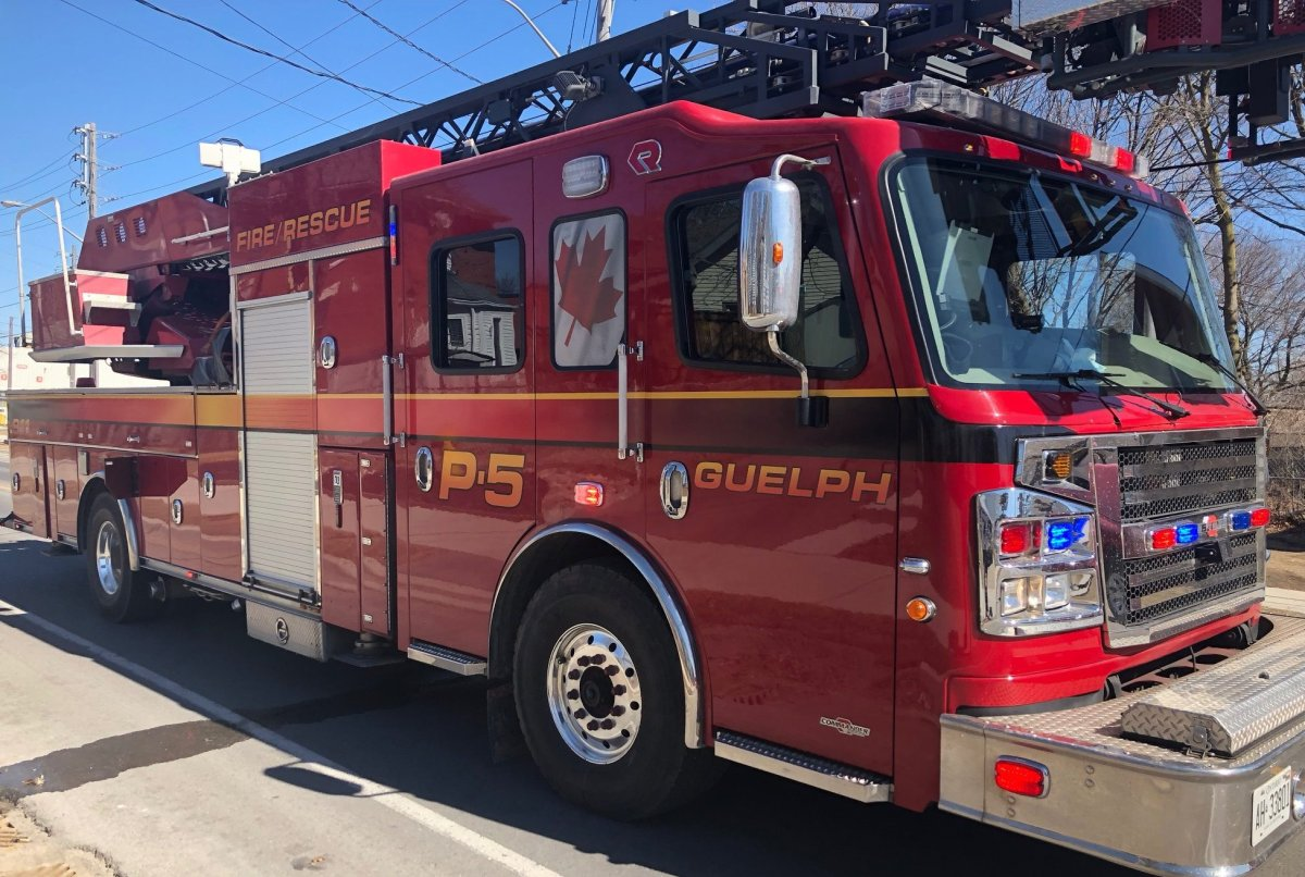 The Guelph Fire Department says no injuries were reported on Wednesday morning.