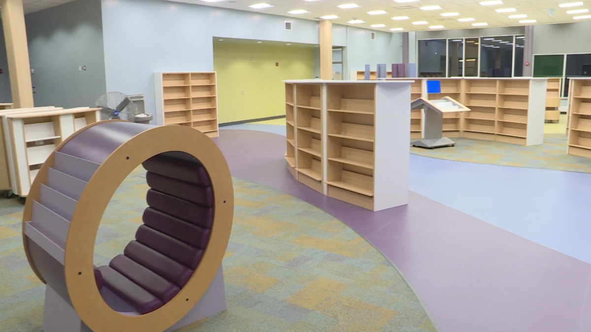 The currently-unfinished Kingston Frontenac Public Library branch at the Rideau Heights Community Centre.