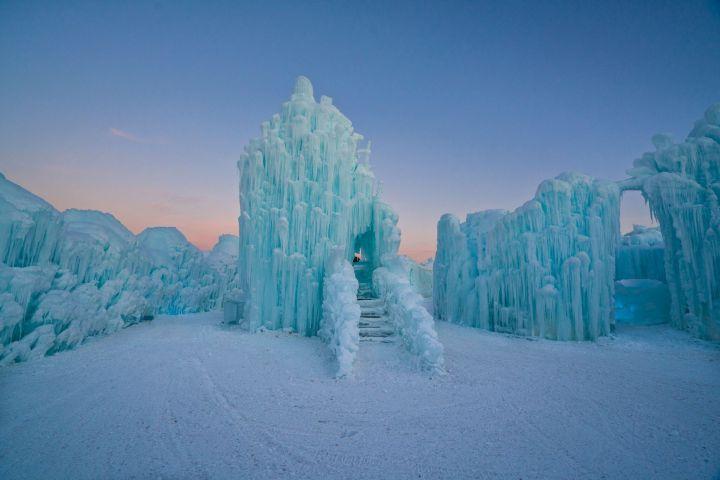 The 2018 version of the ice castle in Edmonton's Hawrelak Park.
