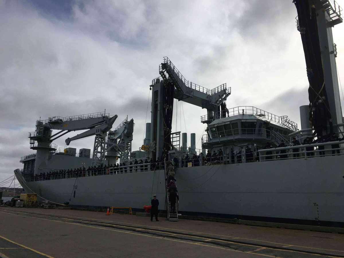 A special ceremony was held Tuesday at Her Majesty's Canadian Dockyard in Halifax to accept the Motor Vessel (MV) Asterix.