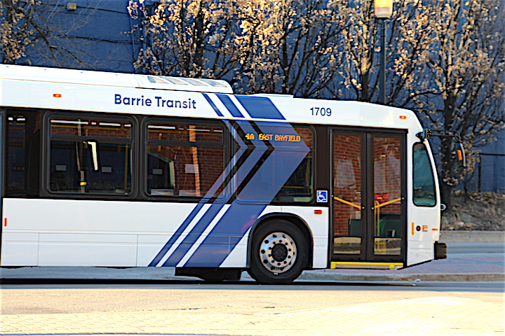 Barrie officials say bus schedules are optimized in real-time based on rider trip requests through the free mobile application.