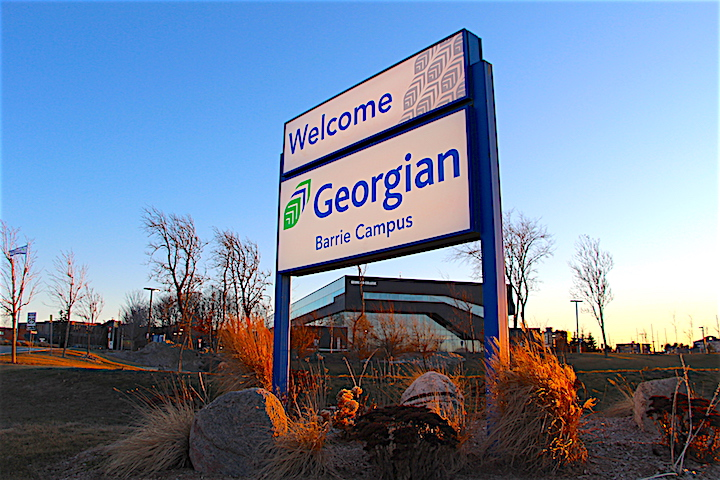 An entrance to Georgian College's Barrie campus.