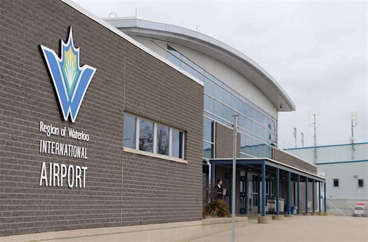 The passenger terminal at the Region of Waterloo International Airport in Breslau.