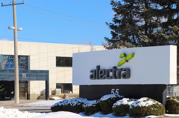 Exterior of Alectra Utilities' office in Hamilton.