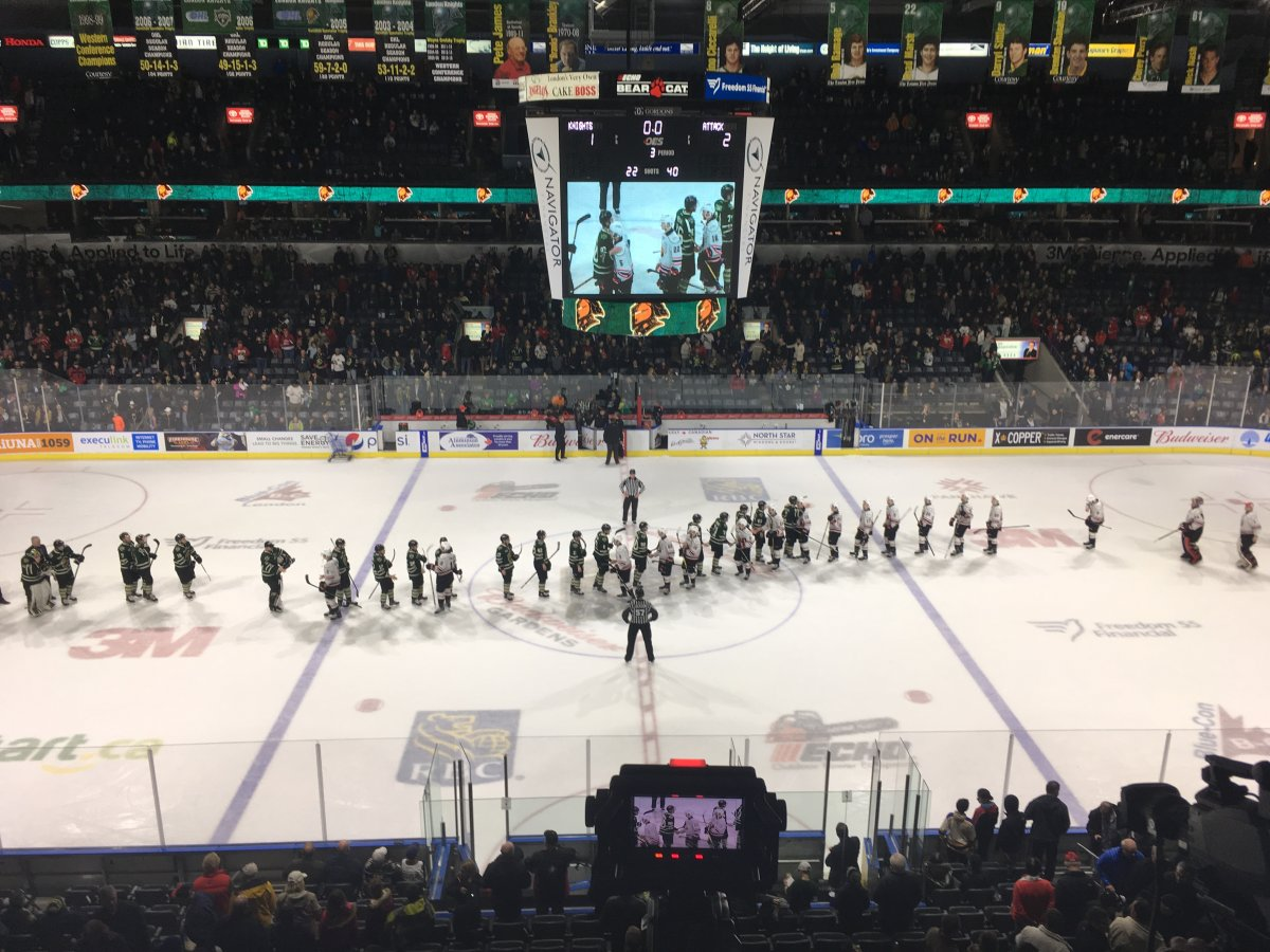 Attack End London Knights Season With 2 1 Win At Budweiser Gardens London Globalnews Ca