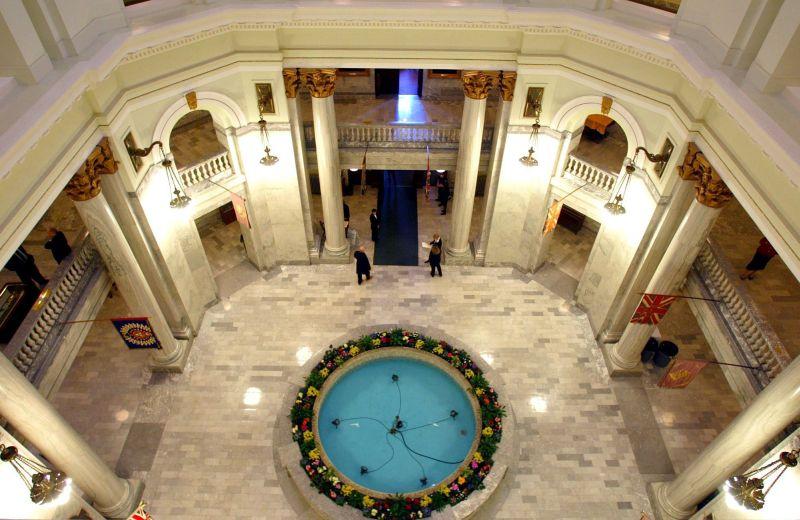 The rotunda at the  Alberta Legislature in Edmonton.