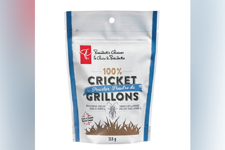 Shoppers can now find bags of President's Choice cricket powder at their local Loblaw stores, the company said Tuesday.