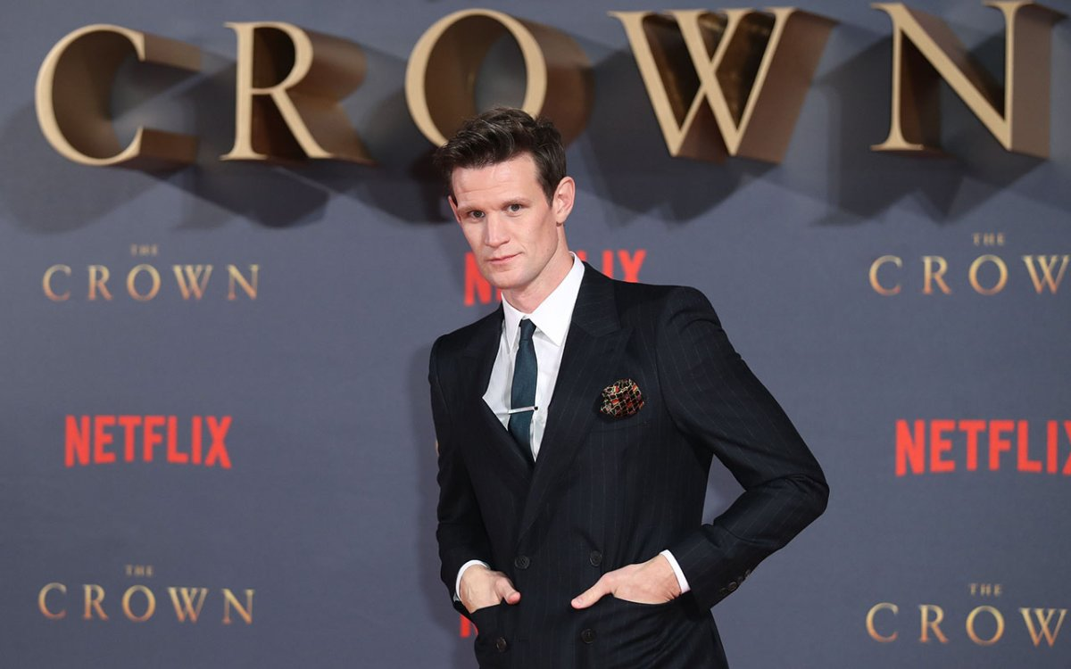 Matt Smith attends the World Premiere of season 2 of Netflix 'The Crown' at Odeon Leicester Square on Nov. 21, 2017 in London, England.