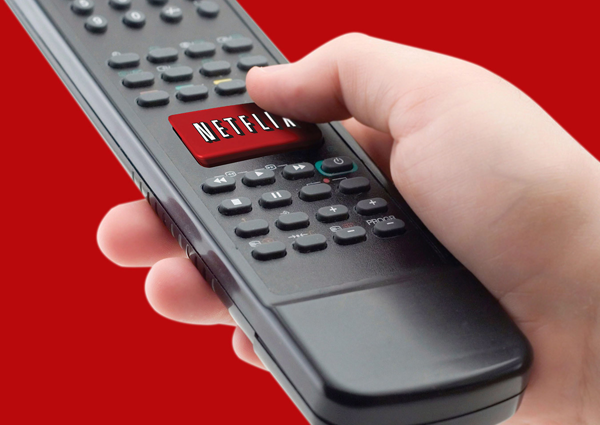 In this undated file photo provided by NetFlix Inc., a representation of the Netflix one-click remote is shown.