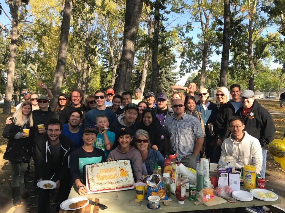 Pokemon Go Team Instinct BBQ held at Prince's Island Park and coordinated by Allan Mach, administrator of Pokemon Go's main Facebook page in Calgary.