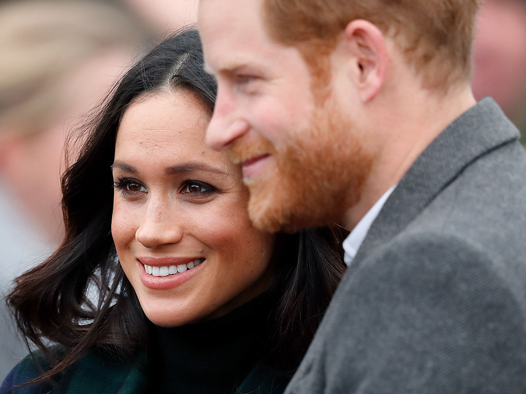 Meghan Markle and Prince Harry visit Edinburgh Castle on February 13, 2018.