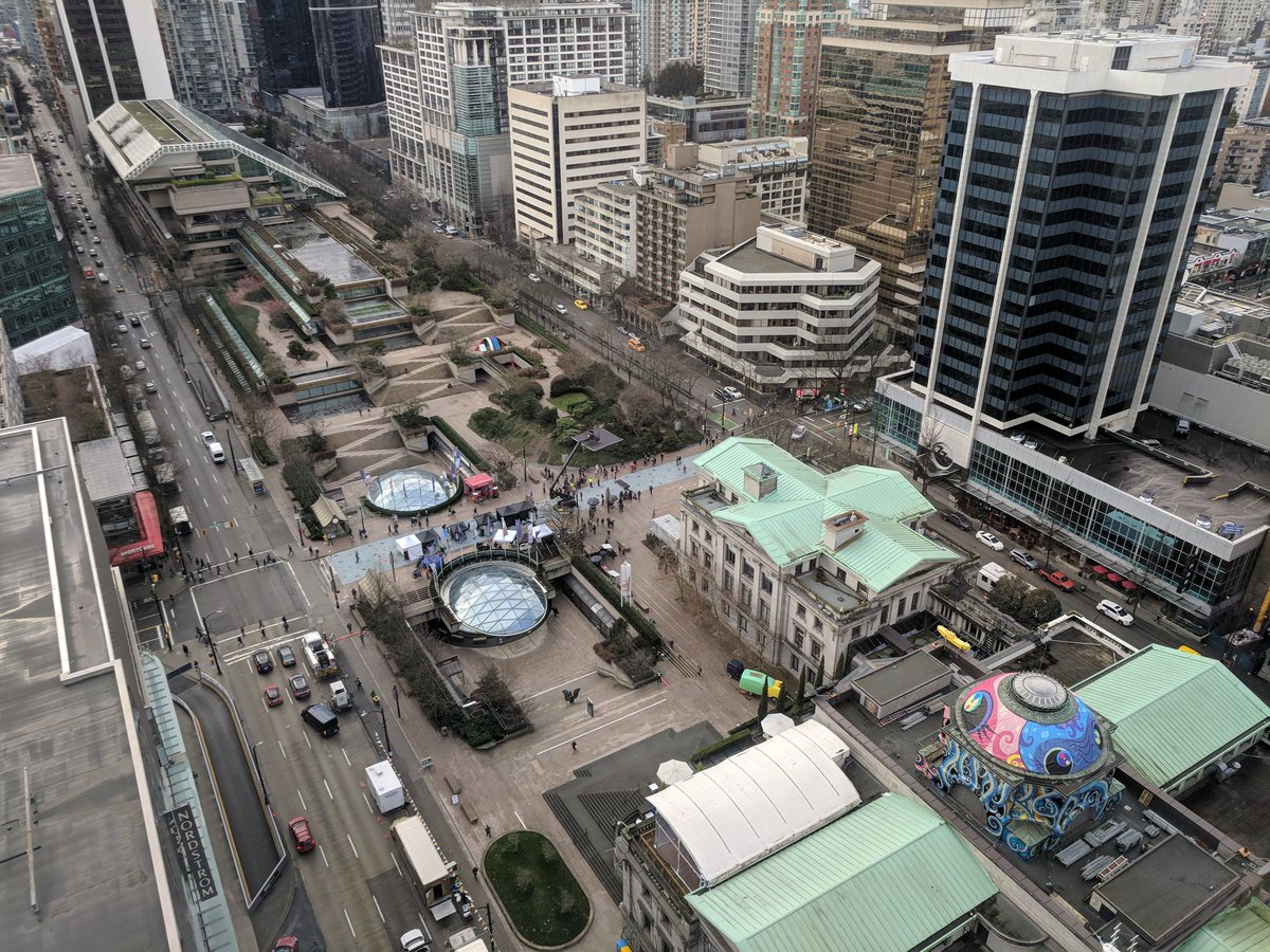 Vancouver's Robson Square.