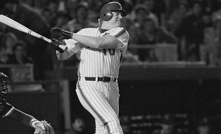 In this May 1, 1984, file photo, Rusty Staub, pinch hitting for the New York Mets, watches his sixth inning hit to right field against the Chicago Cubs at Shea Stadium in New York. Staub, who became a huge hit with baseball fans in two countries during an All-Star career that spanned 23 major league seasons, died Thursday, March 29, 2018, in Florida. He was 73.