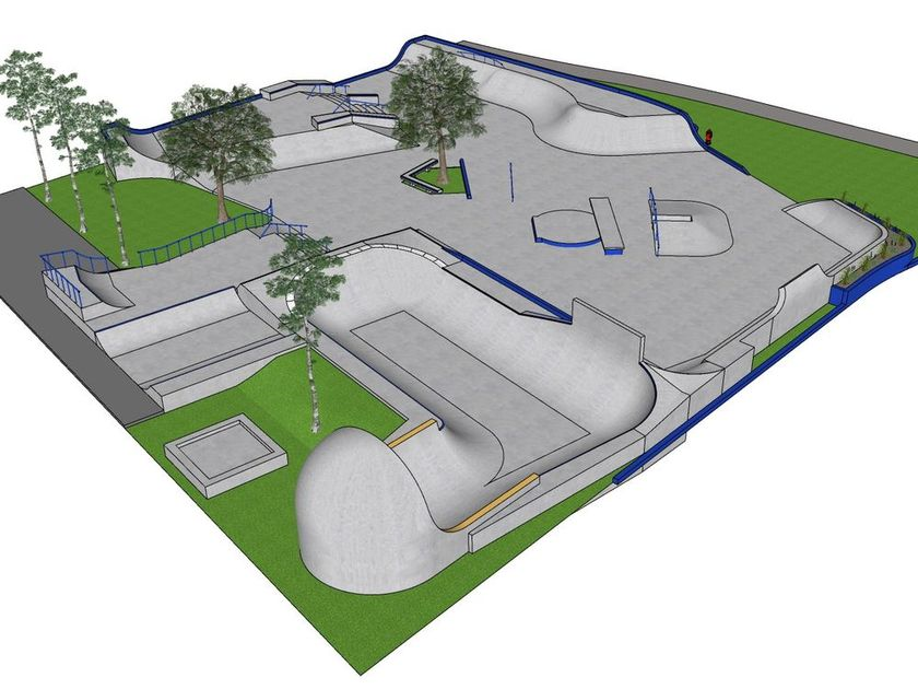 Once completed, the skatepark will sit next to the Pointe-Claire Aquatic Centre.