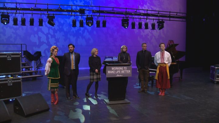 Premier Rachel Notley announces $9.3 million to improve the Northern and Southern Alberta Jubilee Auditoriums. Calgary Wednesday, March 28, 2018.