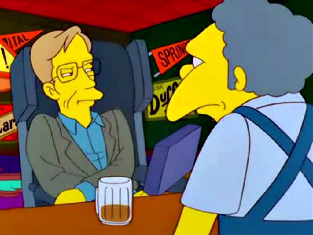 Stephen Hawking guest-stars on 'The Simpsons.'.