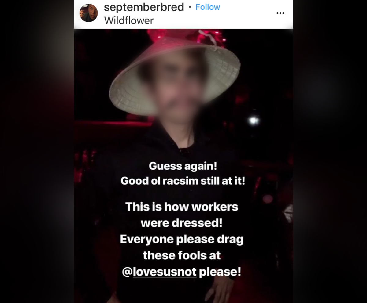 This photograph has been widely circulated on social media, following a themed party at a Toronto nightclub.