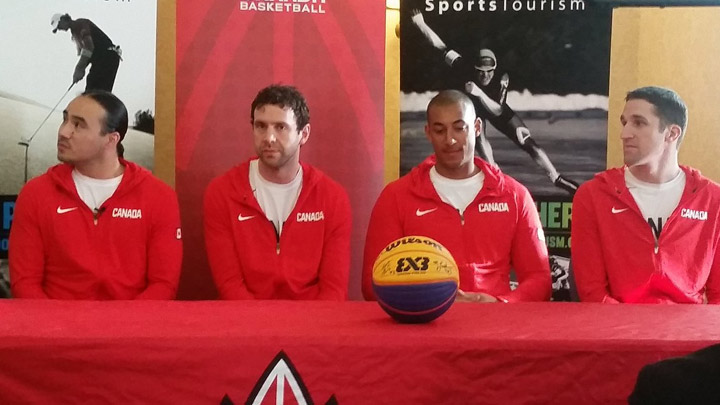 Team Saskatoon (L to R: Michael Linklater, Steve Sir, Nolan Brudehl, Michael Lieffers) will represent Canada at the FIBA 3x3 World Cup 2018 in the Philippines.