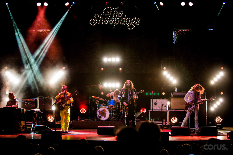 The Sheepdogs performing at Massey Hall. The band will perform a drive-in concert series at the Peterborough Memorial Centre.