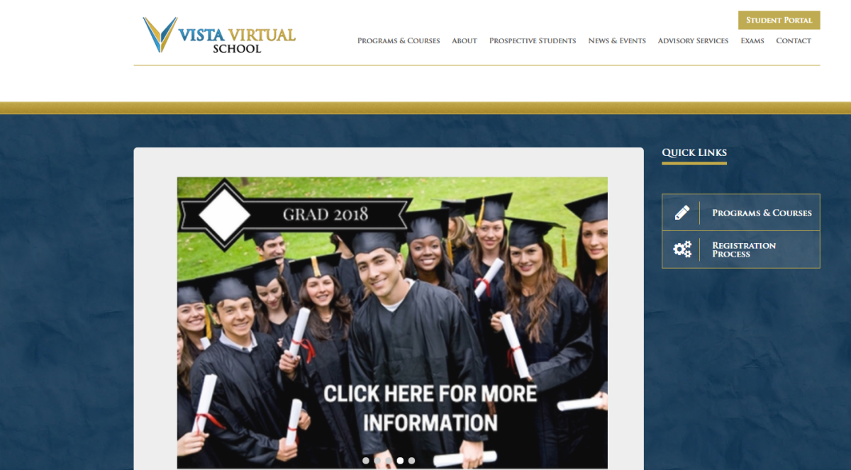 The Vista Virtual School will begin offering classes to adults on May 1.