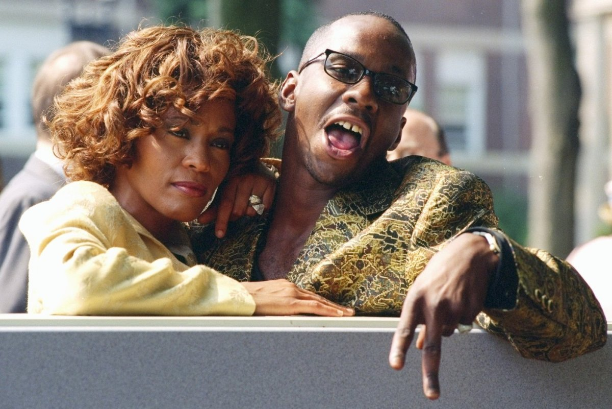 Whitney Houston and Bobby Brown at ceremonies in East Orange, N.J., where the Franklin School was renamed the Whitney E. Houston Academy of Creative and Performing Arts.