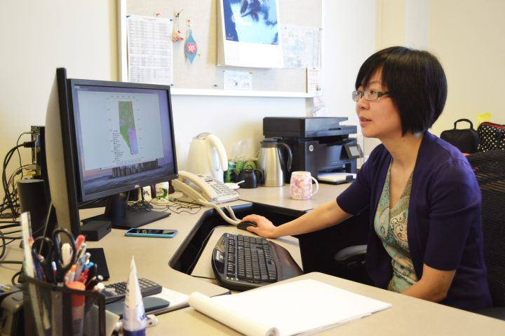 Apparently lightning can strike the same place twice after all. A new study done by the University of Calgary suggests that with the use of satellite data and artificial intelligence it's possible to predict where lightning is at a greater risk to trigger wildfires. Dr. Xin Wang is seen at her desk at the University of Calgary in a Monday, March 5, 2018, handout image.