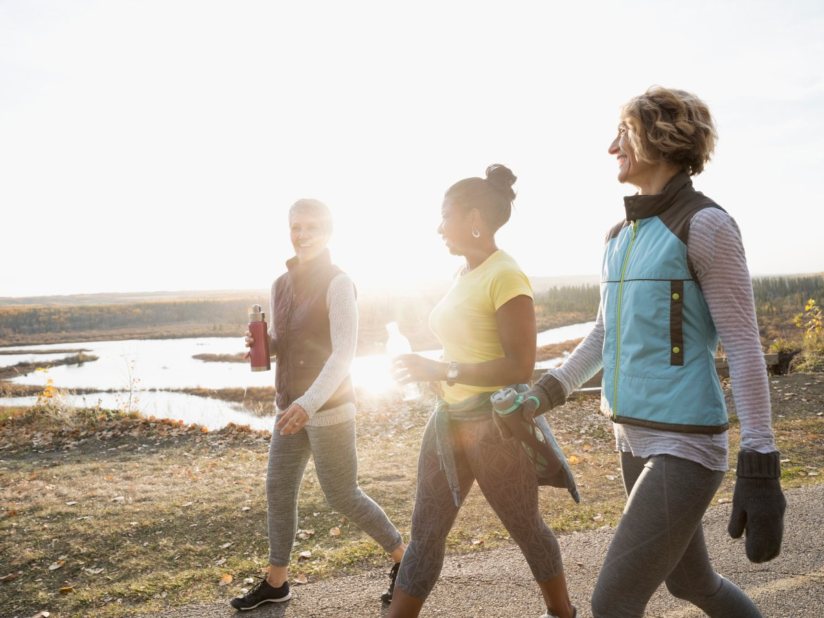 Walking is among the best low-impact exercises for burning calories.