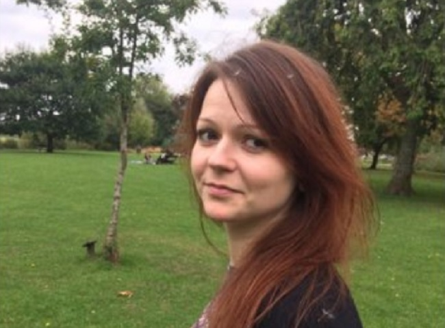 Yulia Skripal, seen in a photo from Facebook, is recovering after she and her father, a former Russian spy, were critically injured in a nerve agent attack.