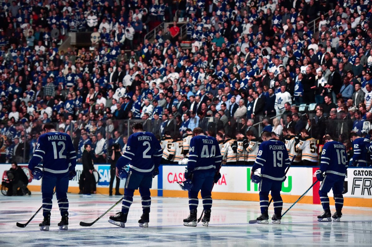 Canada has had tocome together very recently in the wake of painfultragedy, although throughdifferent circumstances, and we will rally again. Scott Thompson says this was evident when Toronto refused to cancel events at Maple Leaf Squareahead of Monday's playoffgame against Bostonat the Air Canada Centre.