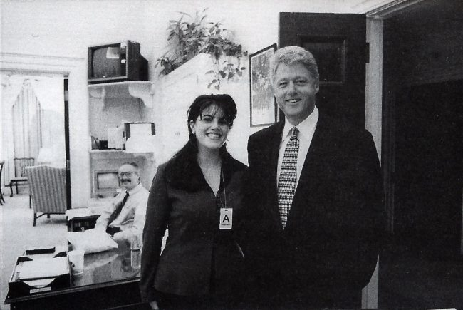 This official White House photo taken Nov. 17, 1995 shows President Clinton and Monica Lewinsky at the White House.