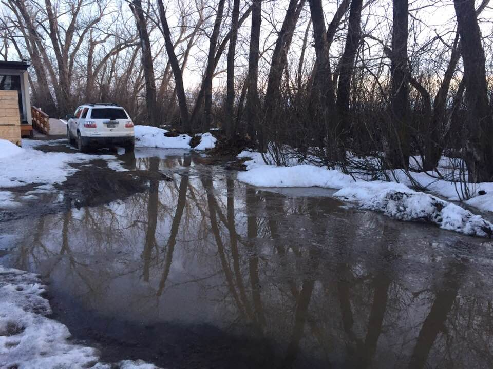 Adrian Stimson's property on Siksika First Nation has been damaged by flooding.