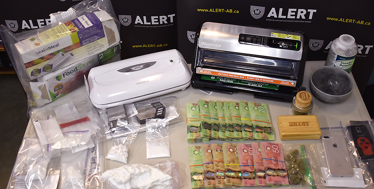 ALERT seized 510 grams of cocaine, along with cash and items suggesting drug trafficking,  after a four-month-long investigation in Grande Prairie, Alta.