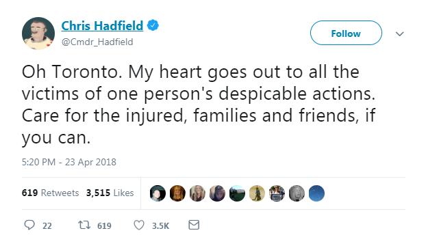 Canadian celebrities react to Toronto van attack - image