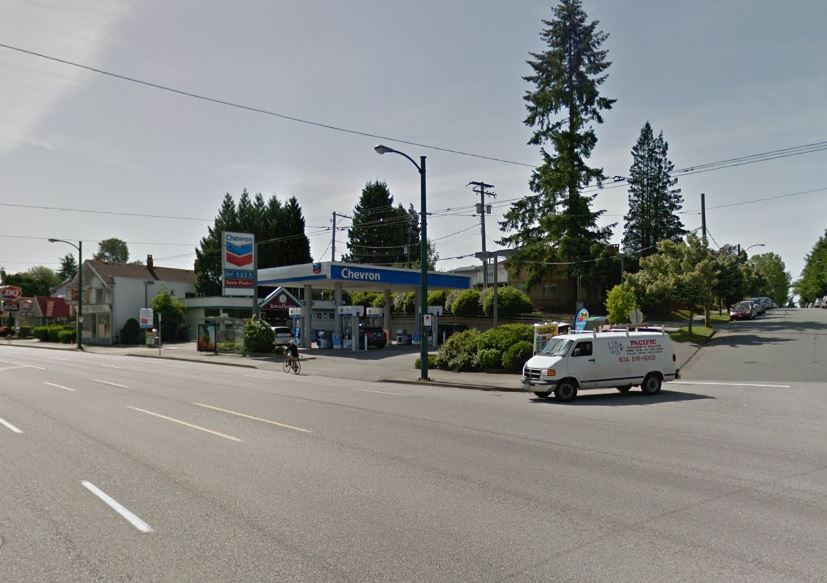The Chevron on Kingsway Street in Vancouver.