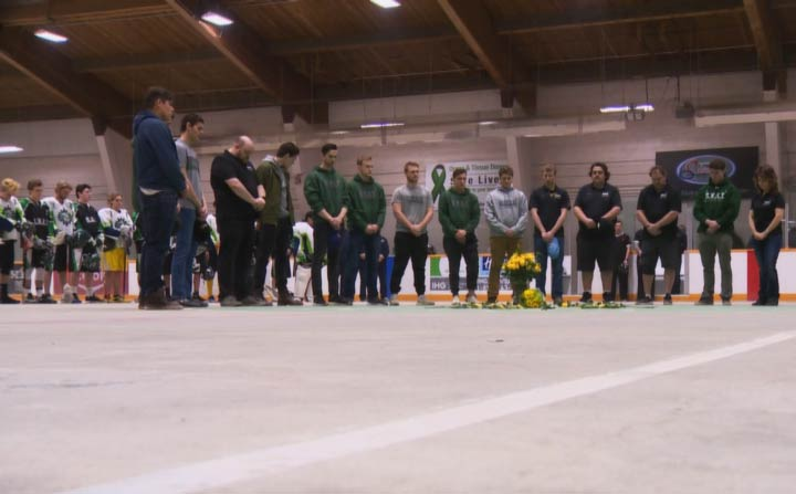 The Saskatchewan SWAT took time to remember Humboldt Broncos bus crash victim Dayna Brons.