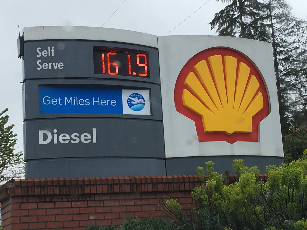 Gas prices on Sunday, April 29, in Metro Vancouver.