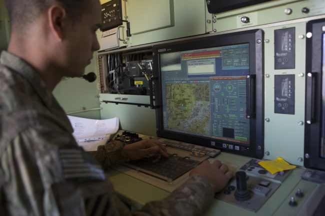 A US Army soldier  monitors a surveillance drone from a control room at Forward Operating Base, Shank Logar Province, Afghanistan, May 8, 2013. In an open letter published April 4, 2018, Google employees expressed concern the company's involvement in Project Maven could contribute to drone warfare operations.